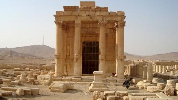 El templo de Baalshamin en la histórica ciudad de Palmira, Siria; esta antigüedad fue destruida recientemente por militantes de ISIS
