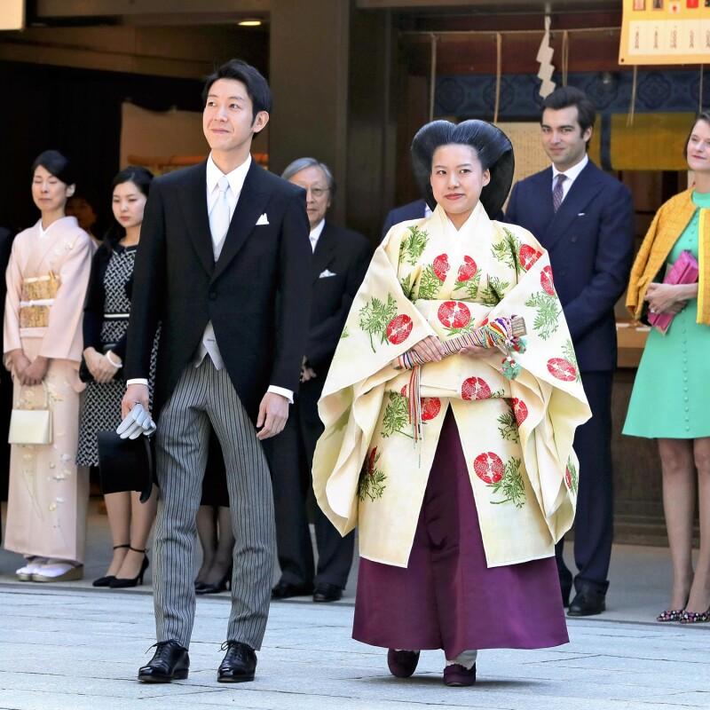 La princesa Ayako y su marido