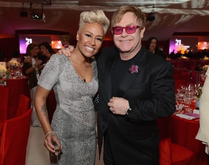 Elton John con Emeli Sande.