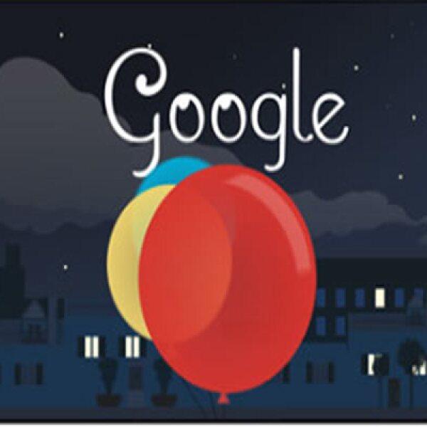 """El 22 de agosto 2013 este 'doodle' interactivo """"tocó la luna"""" en honor al músico."""