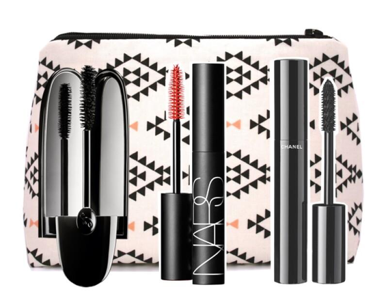 Mascaras de Guerlain, NARS y Chanel.