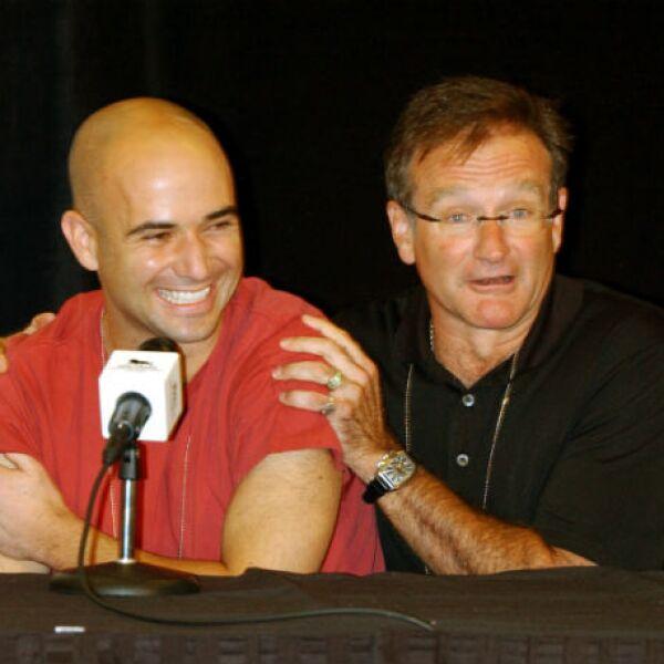 Andre Agassi contó con Robin como aliado en sus eventos benéficos.