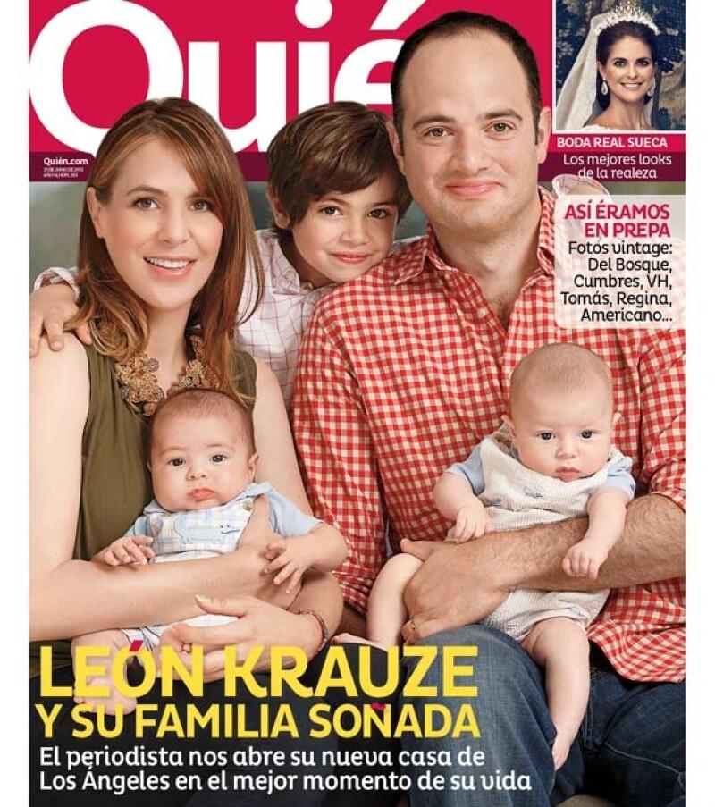 León Krauze y su familia posan en exclusiva para Quién.