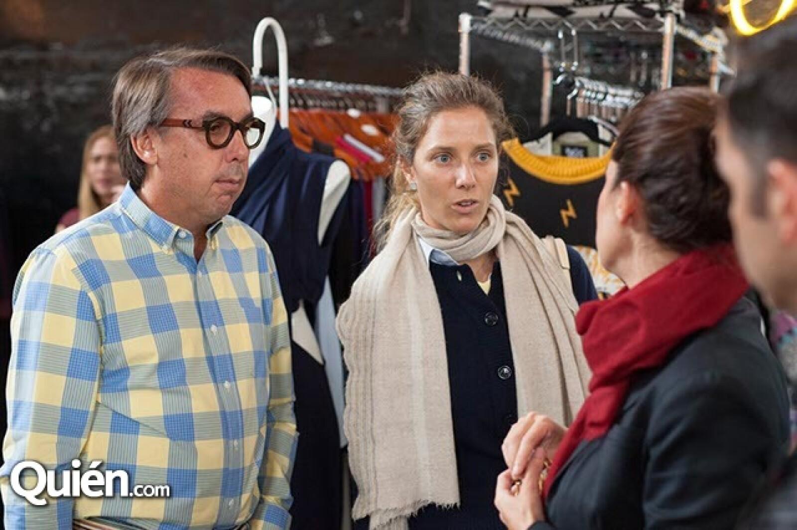 Emilio Azcárraga Jean y Sharon Fastlicht