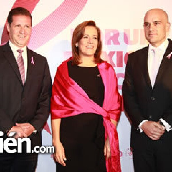 Juan Alanis, Margarita Zavala y Manuel Rivera