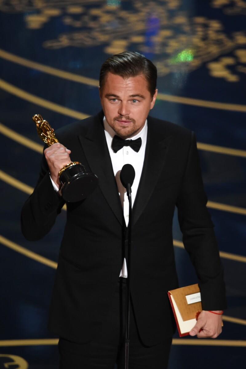 Leo DiCaprio por fin ganó el Oscar y nos conmovió con su discurso