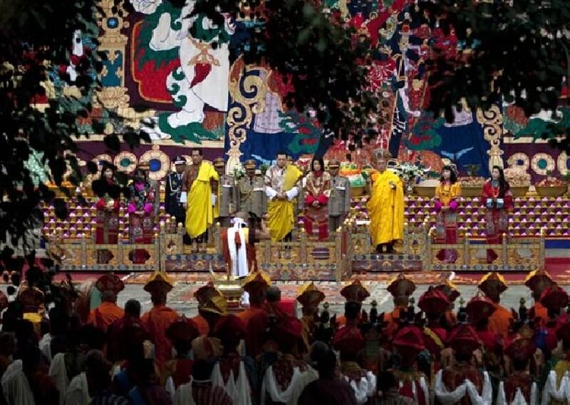 Parte de la boda real de Bután fue transmitida por televisión a nivel internacional.