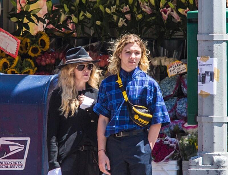 Madonna y su hijo Rocco, de 15 años.