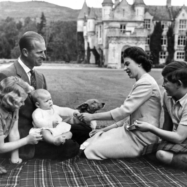 Felipe, Isabel, Ana, Carlos y Andrés, 1960.