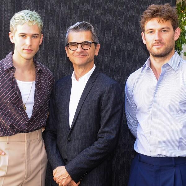 Tommy Dorfman, Serge Brunschwig, Alex Pettyfer @ FENDI MSS20 Fashion Show.jpg