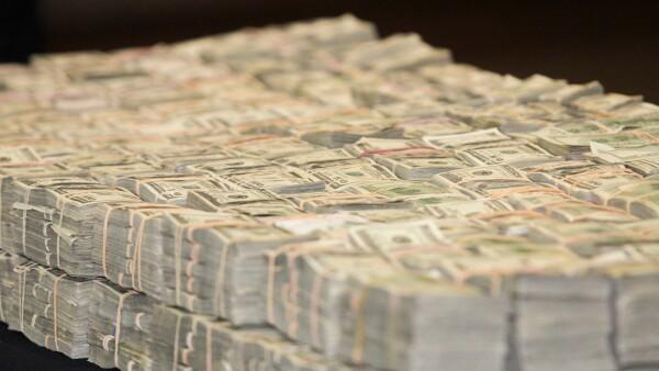 Dólares decomisados