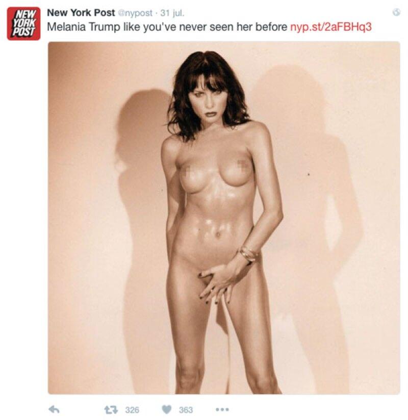 El fotógrafo aseguró que Melania no se sintió incómoda por posar desnuda en ningún momento.