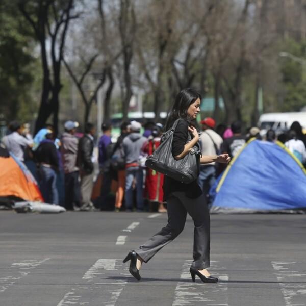 plantón CNTE Reforma 5
