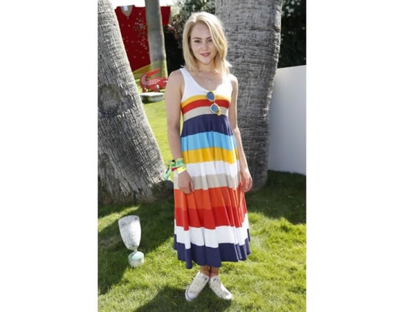 Nuestra favorita `mini´Carrie en un vestido super ad hoc a su edad de Lacoste.