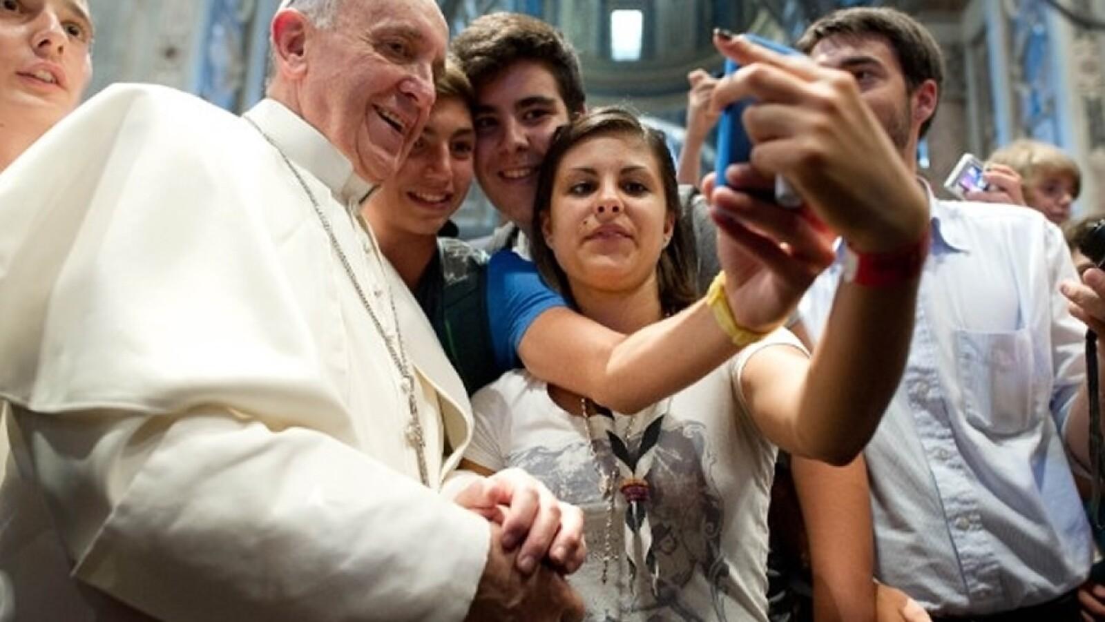 papa Francisco selfie