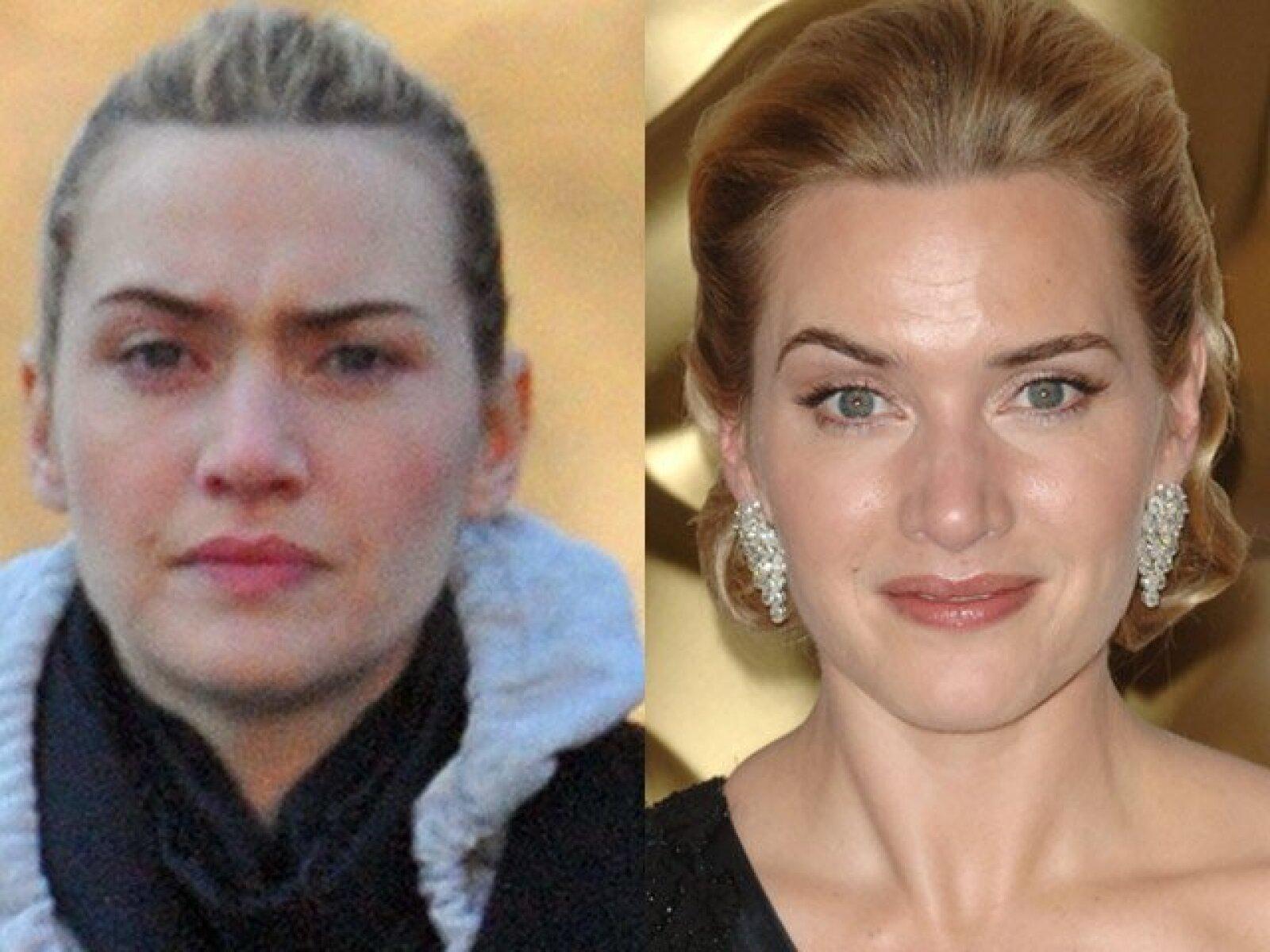 La ganadora del Oscar, Kate Winslet, salió de compras muy peinada pero sin maquillarse y dejó ver que sí necesita de la ayuda de los cosméticos para lucir como toda una estrella.