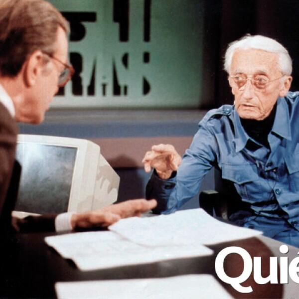 Entrevistando a Jacque Cousteau