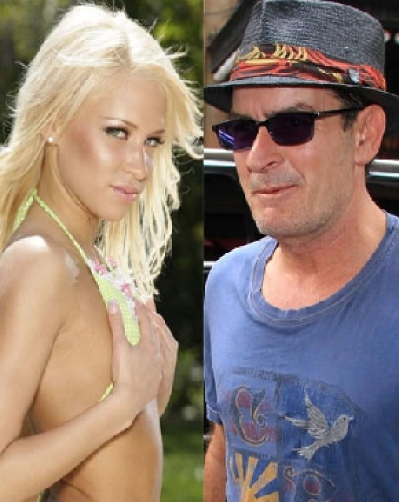 Actriz Porno Decibe charlie sheen pagó 30 mil dólares a una actriz porno