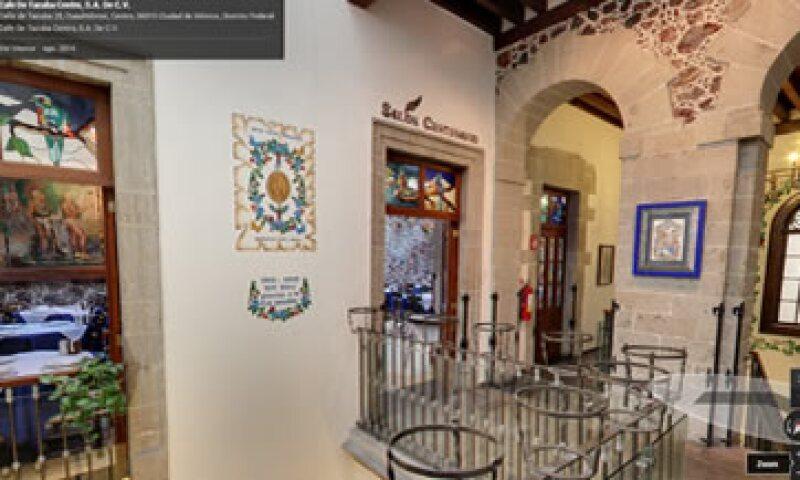 Un vistazo a los interiores del Café Tacuba, en el DF. (Foto: Tomada de Google Maps)