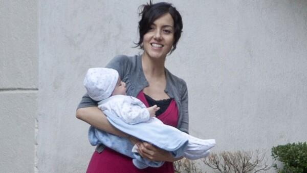 La actriz señaló que trabaja junto con la Comisión Nacional para Prevenir y Erradicar la Violencia Contra las Mujeres en la campaña para informar sobre las ventajas de tener bebés de manera natural.