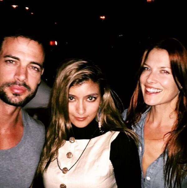 William Levy con Rola y Ali Larter.
