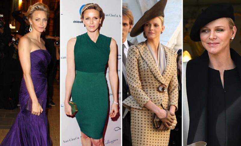 Charlène no se queda atrás, pues desde siempre ha dado cátedra de elegancia y porte.