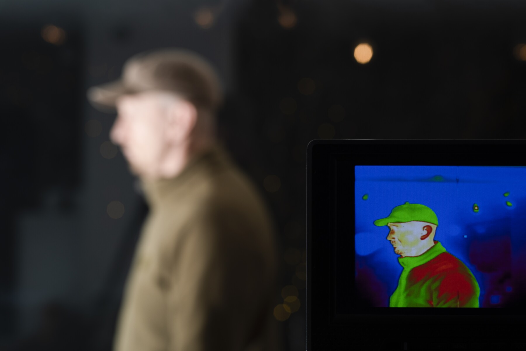 Thermal scanning of a person