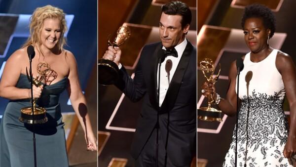 Amy Schumer, Viola Davis y Jon Hamm son algunos de los nombres que se llevaron la preciada estatuilla a casa en la entrega número 67 de los premios a lo mejor de la televisión.