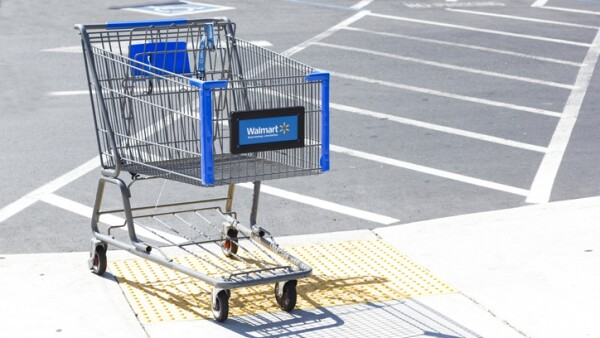 Walmart shopping cart.
