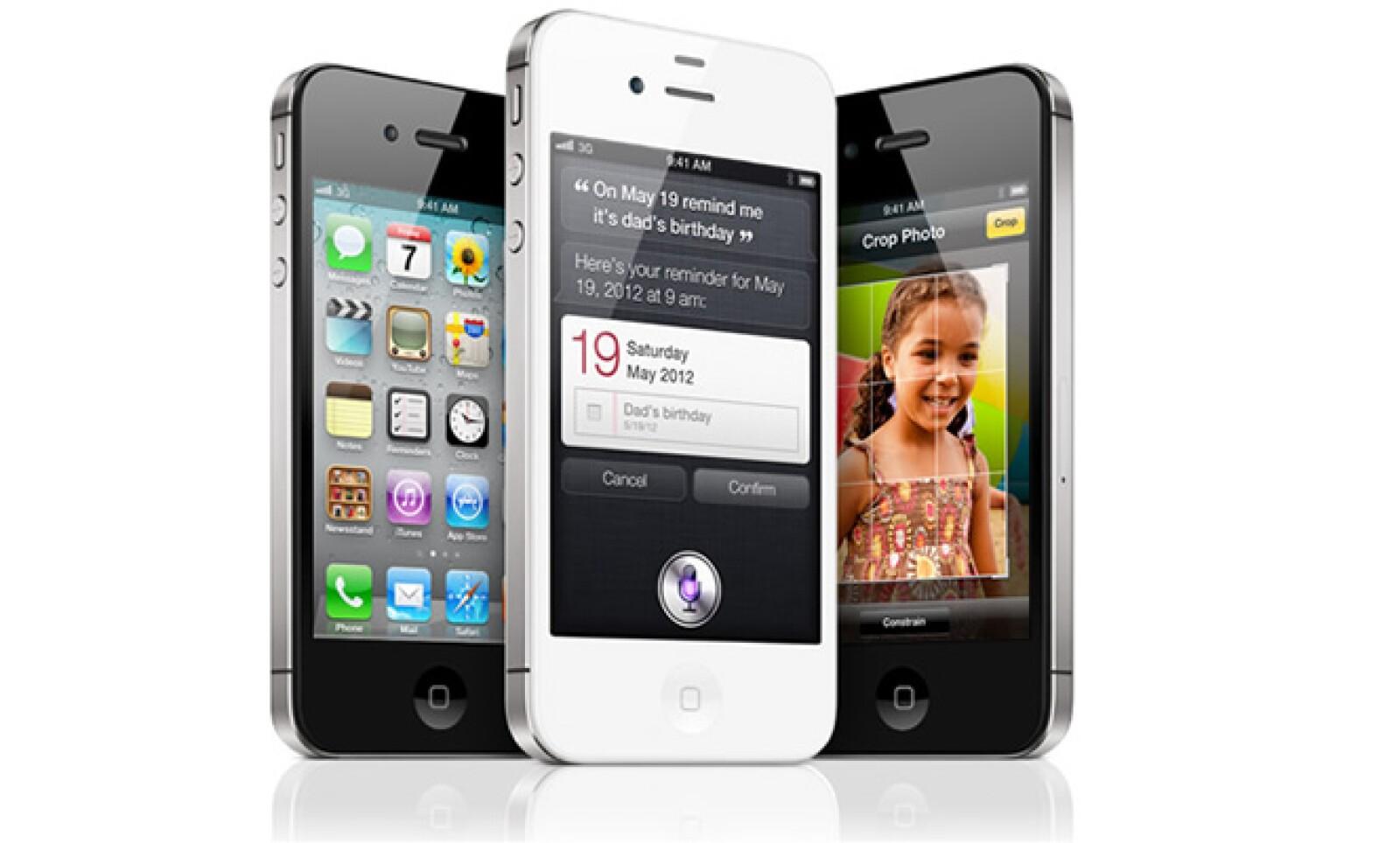 El iPhone 4S viene en blanco y negro y saldrá a la venta el 14 de octubre en EU.