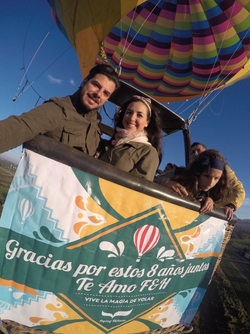 Fátima Torre y Héctor Salazar se casaron hace seis meses en Querétaro.