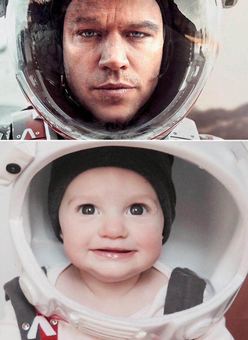 The Martian es protagonizada por Matt Damon, y ahora, su versión mini-me, el bebé de Maggie, Sloane Storino.