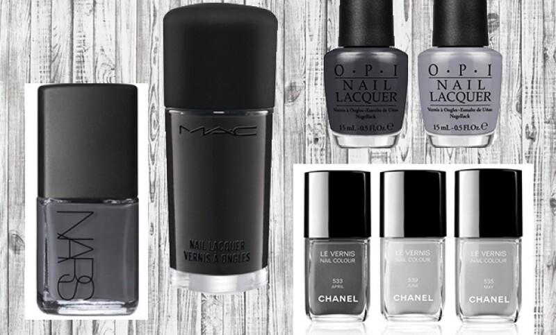 Los tonos grises dan un aire misterioso y moderno a tu look.