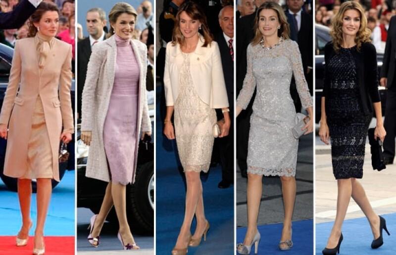 En sus nueve apariciones anteriores la ahora reina de España ha ido de la mano de su diseñador de cabecera Felipe Varela: Mira la evolución de sus looks en este importante evento.