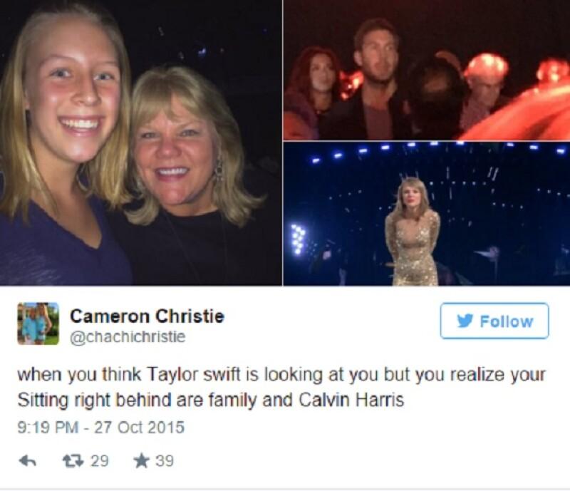 Los fans de la cantante publicaron en redes sociales imágenes donde aparecía que Calvin estuvo presente en el concierto de su novia en Miami.