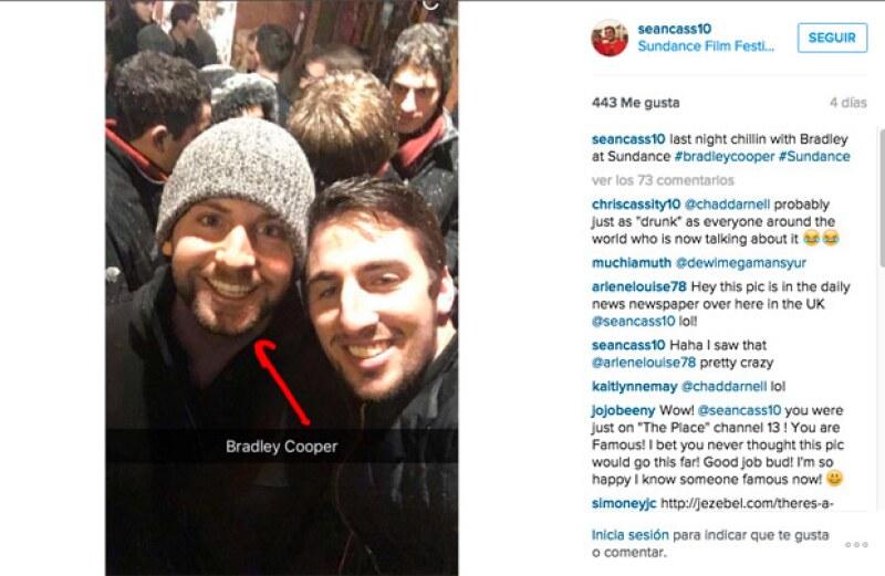 Él es el supuesto Bradley, quien se metió de incógnito a una fiesta ofrecida por el equipo del filme White Girl.