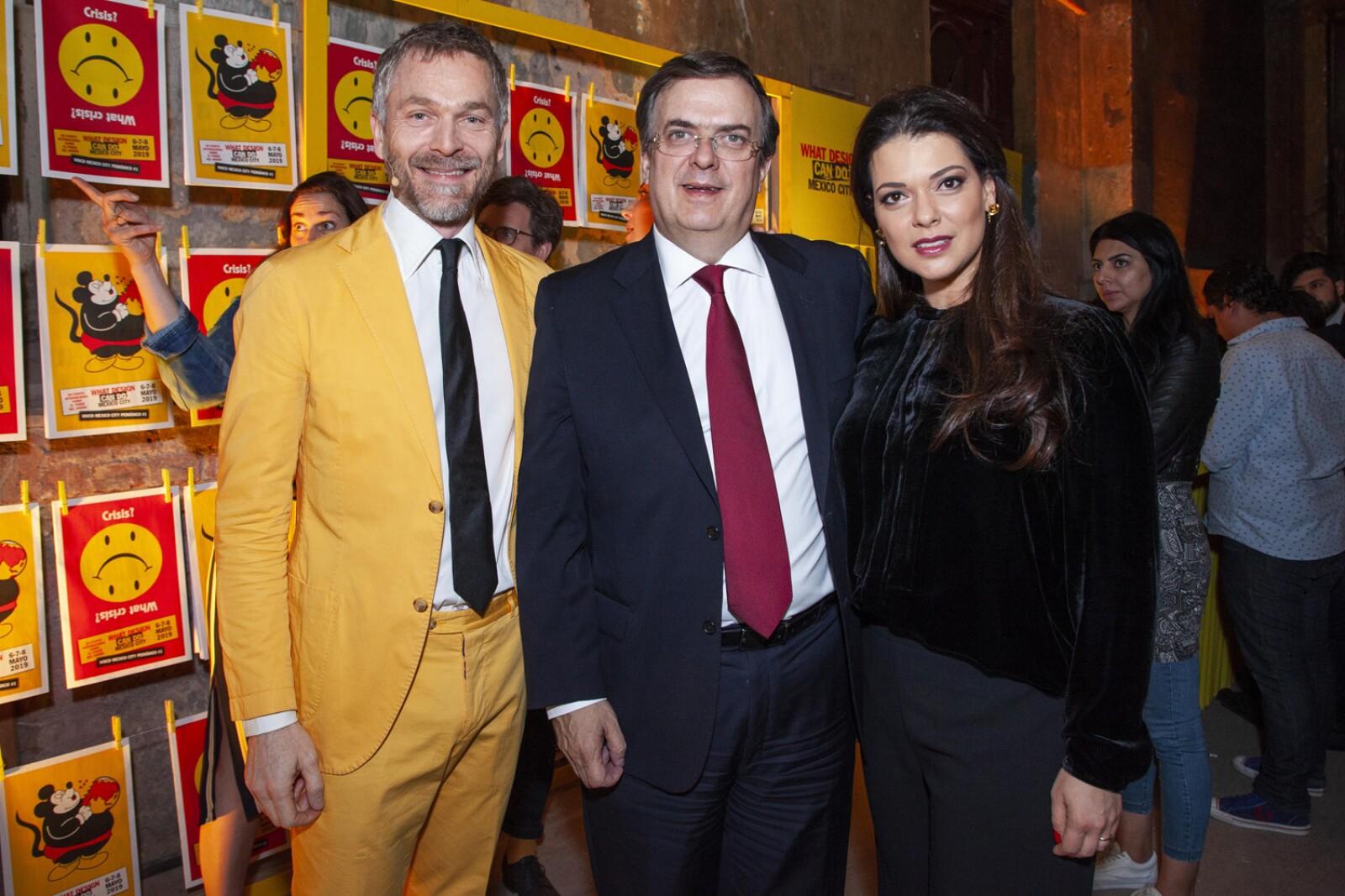 Richard Van Den Laker, Marcelo Ebrard, Rosalinda Bueso