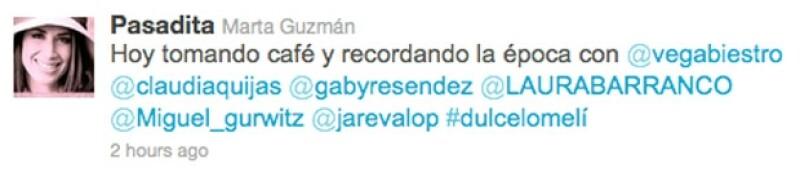 También Martha Guzmán recordó el tiempo en que estuvo en el noticiero.