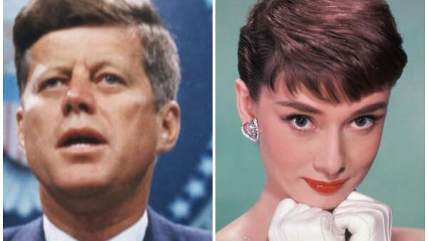 John F.  Kennedy y Audrey Hepburn