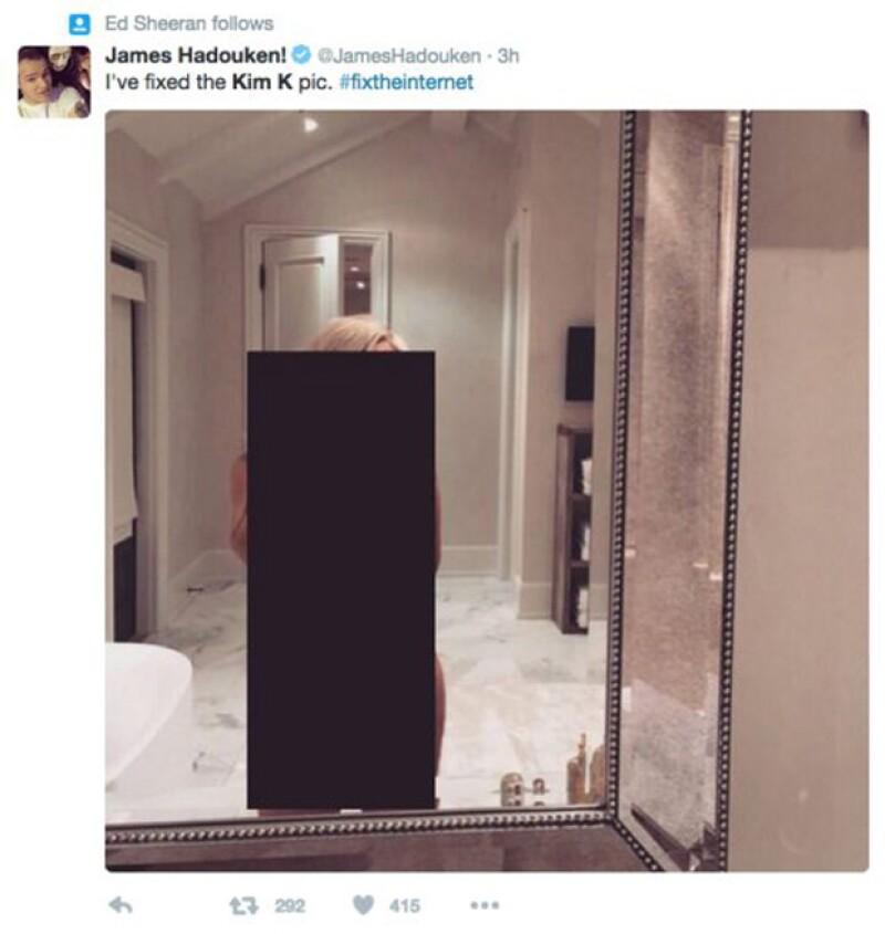 Ed Sheeran retuiteó este meme de Kim.