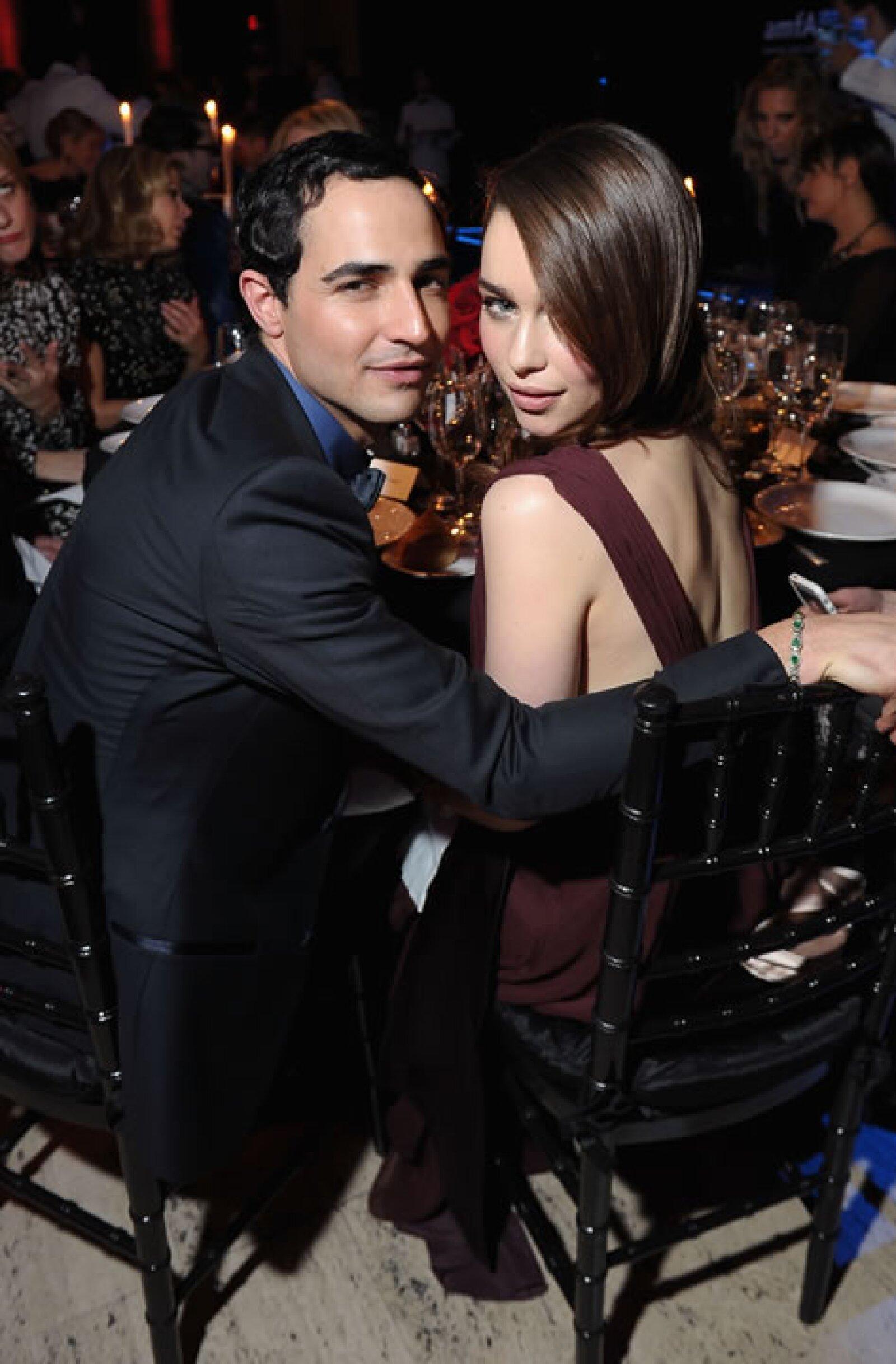 Zac Posen y Emilia Clarke