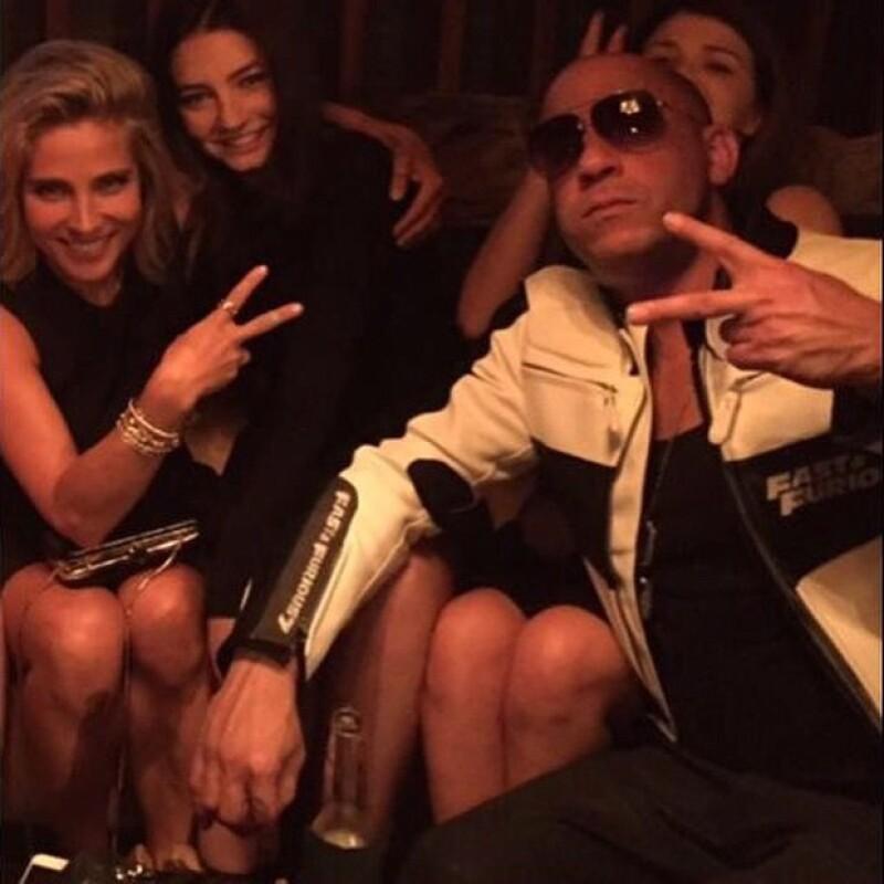 Meadow compartió una imagen con el mejor amigo de su fallecido papá, Vin Diesel, y Elsa Pataky, con quienes se reunió con motivo del estreno de la séptima película.