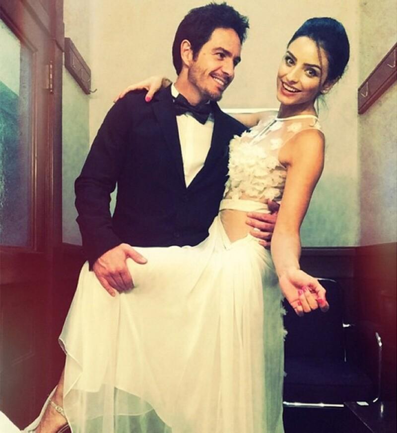 La pareja de actores se casó tras dos años de relación.