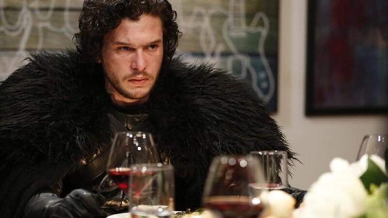 Kit Harrington as Jon Snow during the 'Game of Thrones' skit