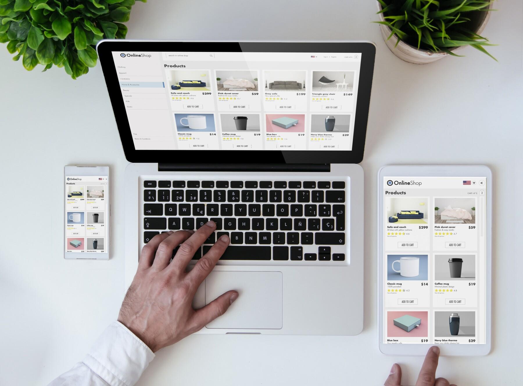 office tabletop online shopresponsive design website