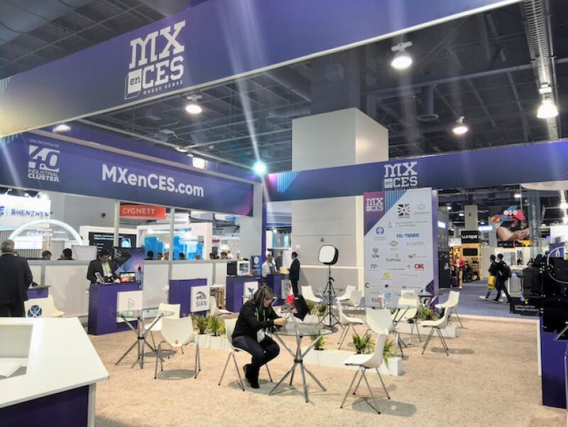 Pabellón de México en la feria CES de Las Vegas 2019