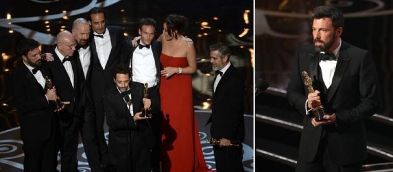 Argo se llevó a la estatuilla a la mejor película, Daniel Day Lewis por Lincoln y Jennifer Lawrence por Silver Linings Playbook por mejor actor y mejor actriz respectivamente.