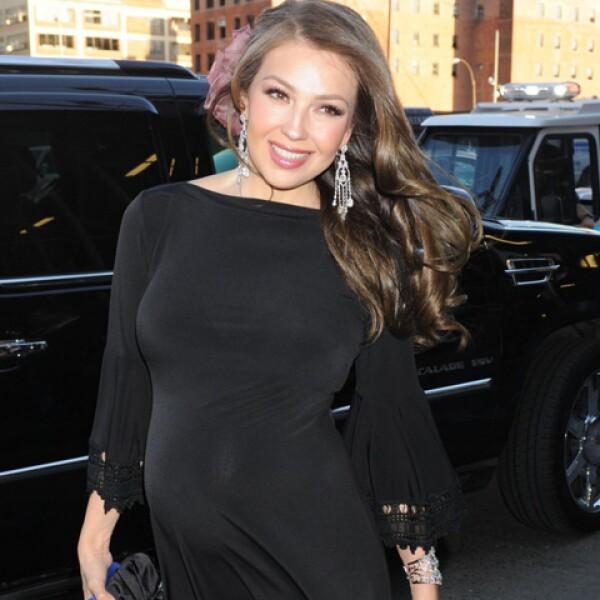 Otra imagen de Thalía, quien el próximo mes dará a luz a su segundo hijo.