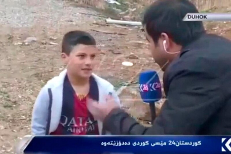 La cadena Kurdistan24 localizó al niño iraquí y lo entrevistó, resultando que la fotografía era de dos años atrás . Pero según asegura la BBC, esta historia es inventada.