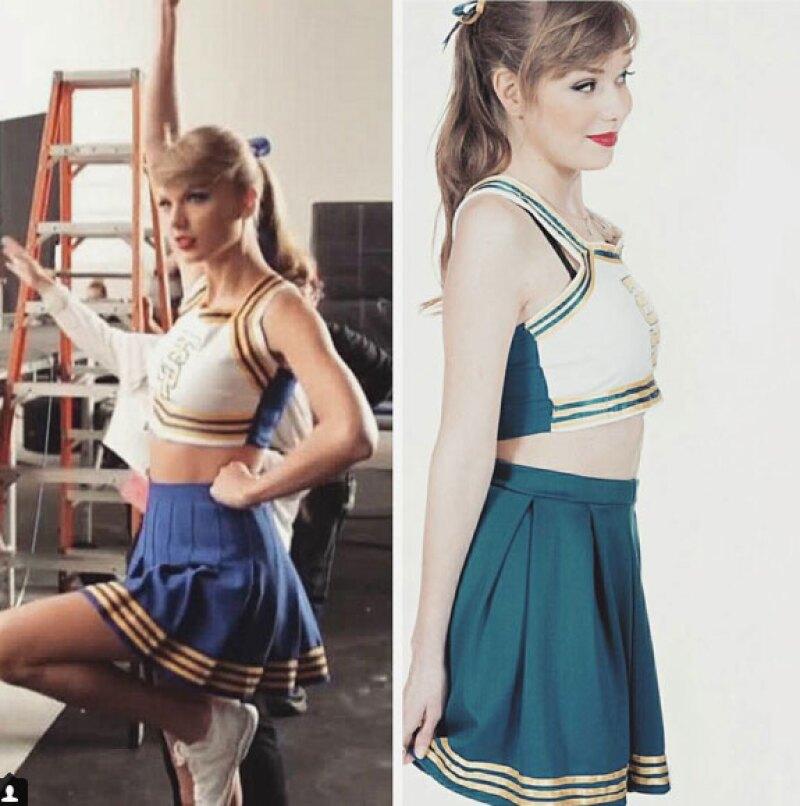 Lotte vestida como porrista, igual que Taylor en Shake it off.